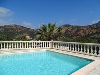Villa with swimming-pool and sea-view for rent in Anthéor, Saint-Raphaël, Var, Côte d Azur